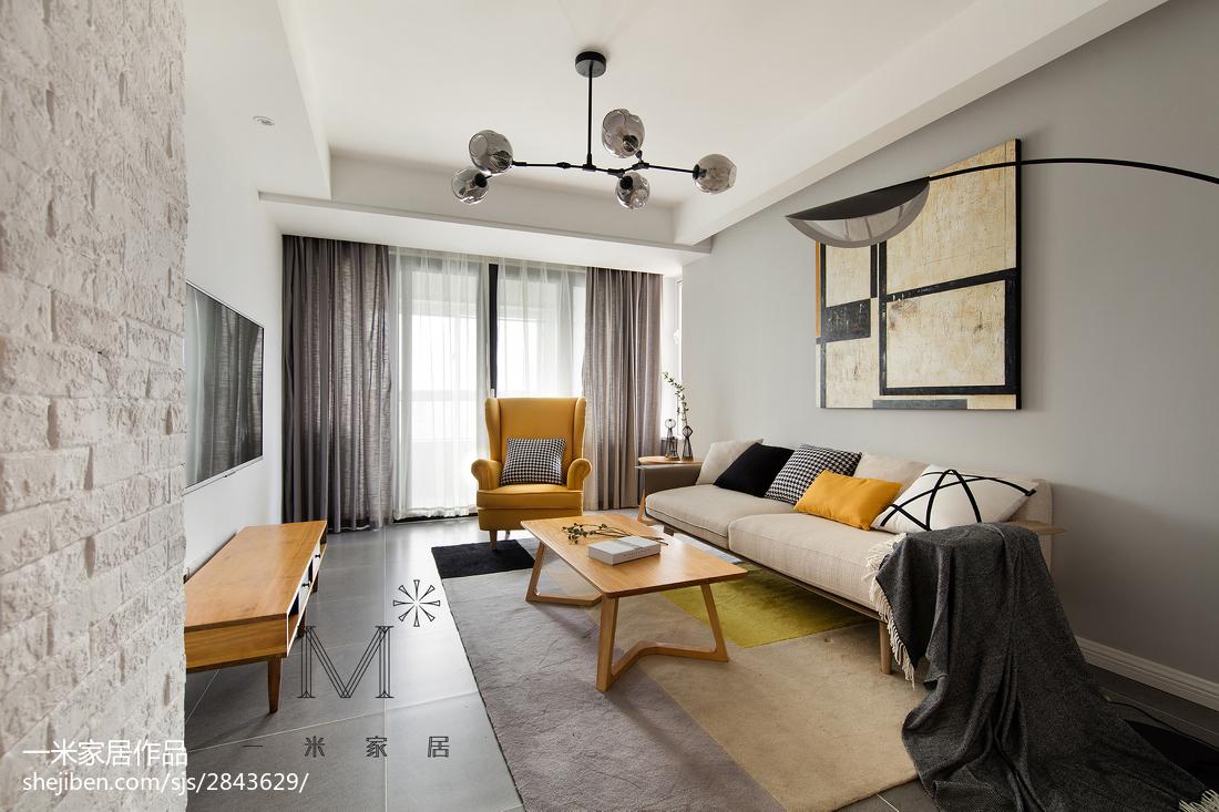 精美面积96平北欧三居客厅装修实景图片大全