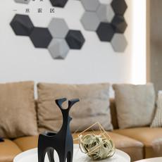 2018精选面积93平现代三居客厅装修设计效果图片大全