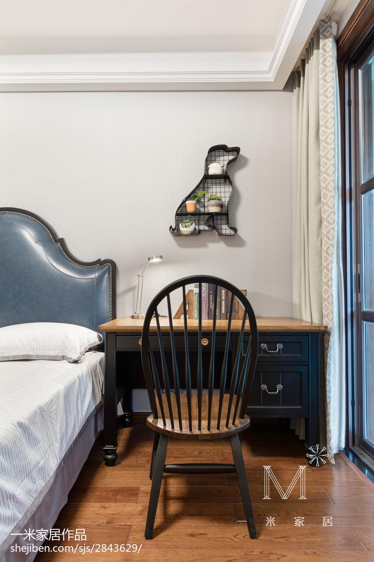 精美123平米四居卧室混搭装修设计效果图片