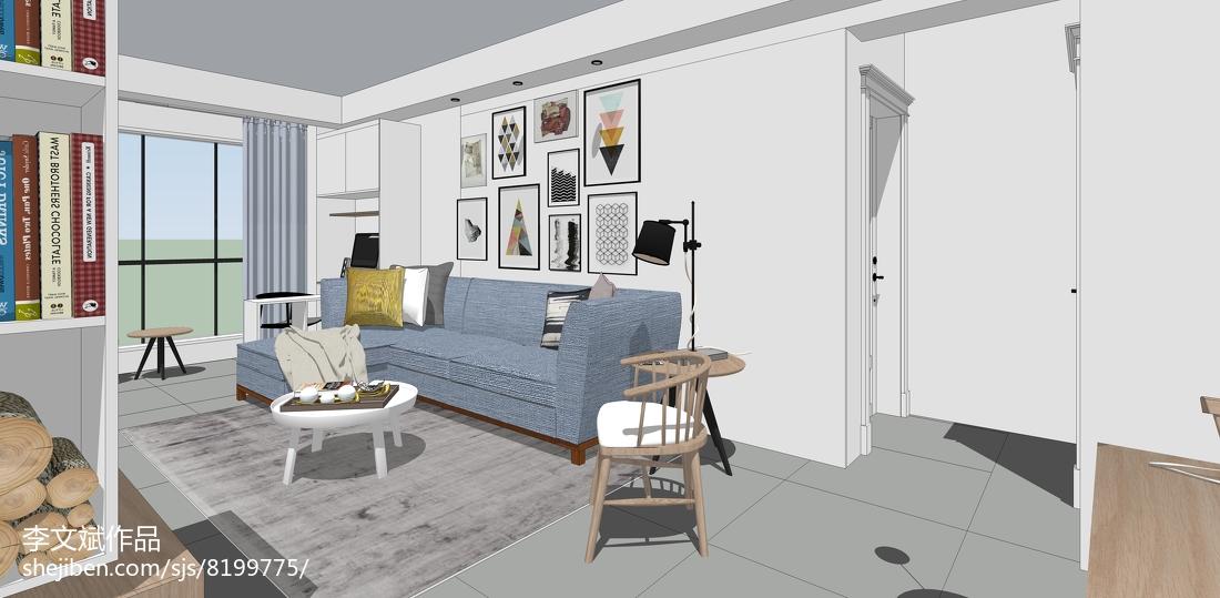 新古典式风格三居室装修