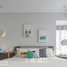 明亮60平现代二居卧室效果图欣赏