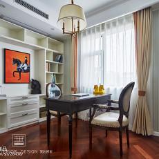 96平米三居书房美式装修设计效果图片