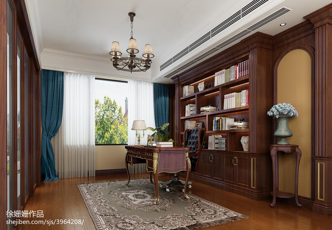 现代别墅书房装饰设计图片欣赏