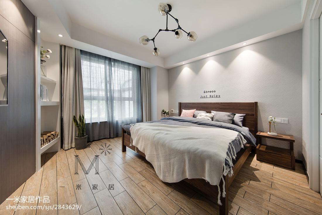 精选91平米三居卧室混搭实景图