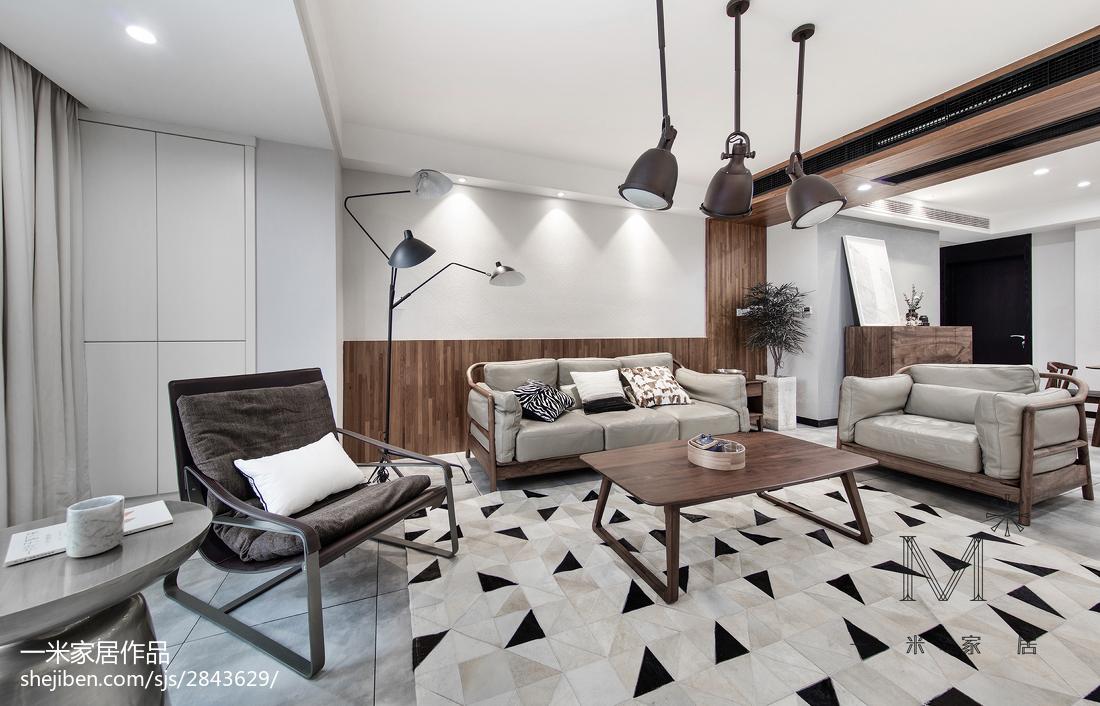精美混搭3室客厅装修设计效果图片欣赏101平