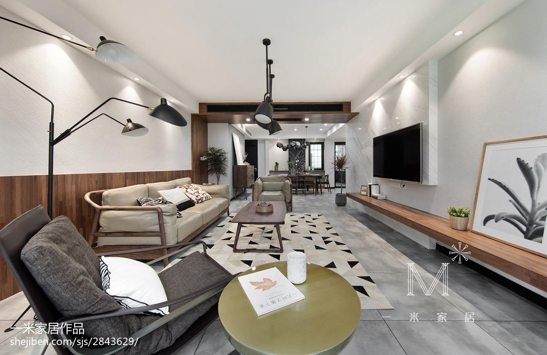 220m²混搭复式客厅设计效果图