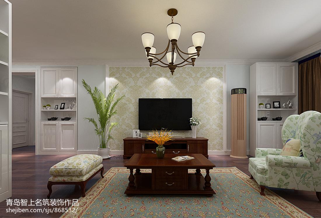 热门面积82平宜家二居客厅装修实景图