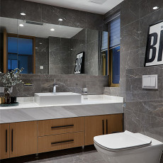 138平米现代复式卫生间实景图片