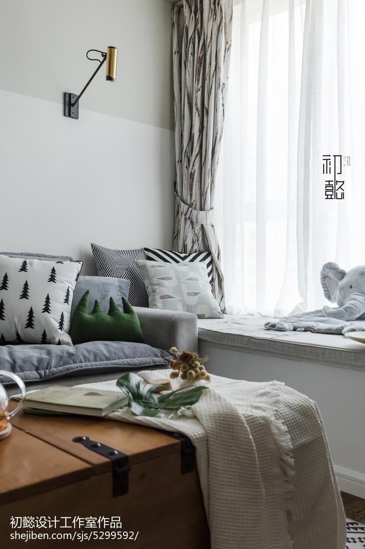 2018精选86平米北欧小户型客厅装修图片