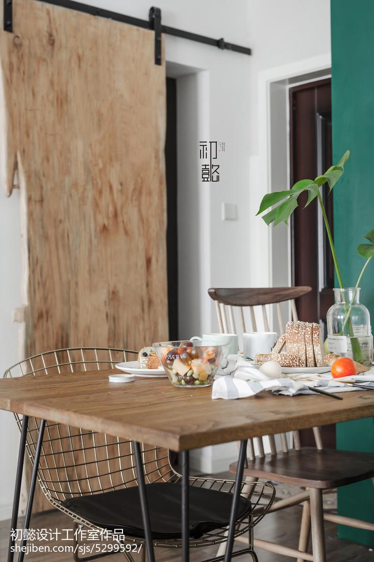 精选面积86平小户型餐厅北欧装修设计效果图片欣赏