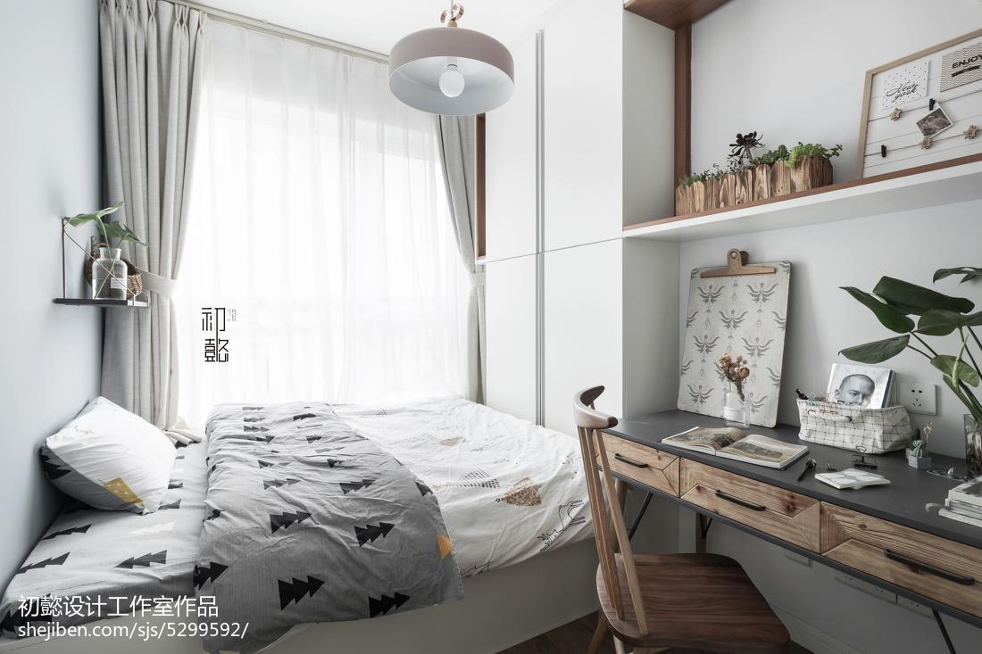 面积89平小户型卧室北欧装修欣赏图