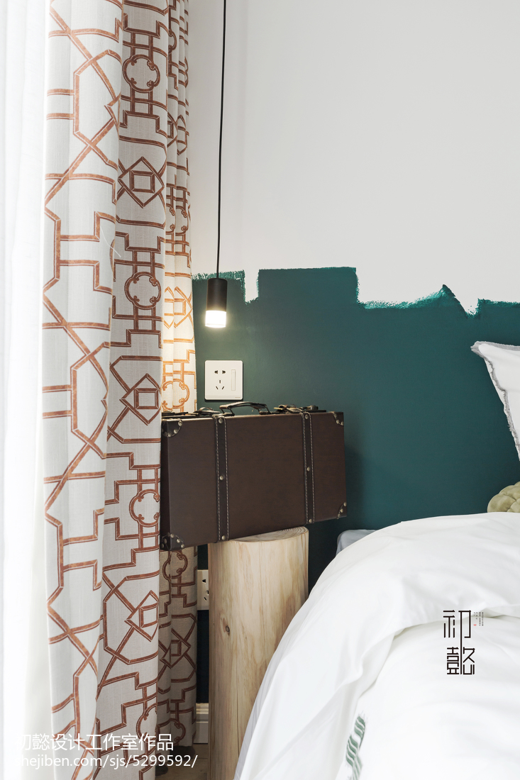 精美面积78平小户型卧室北欧装饰图片欣赏