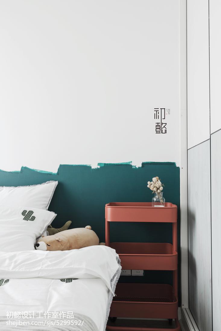 精美面积79平小户型卧室北欧装修效果图片