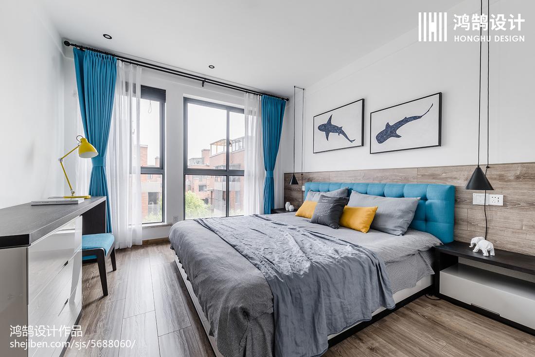 201885平米二居卧室北欧设计效果图
