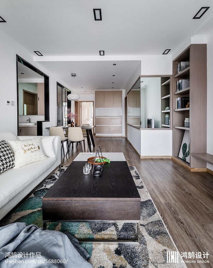 面積78平北歐二居客廳裝修設計效果圖