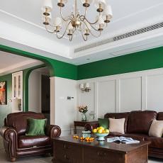 热门92平米三居客厅美式装修图
