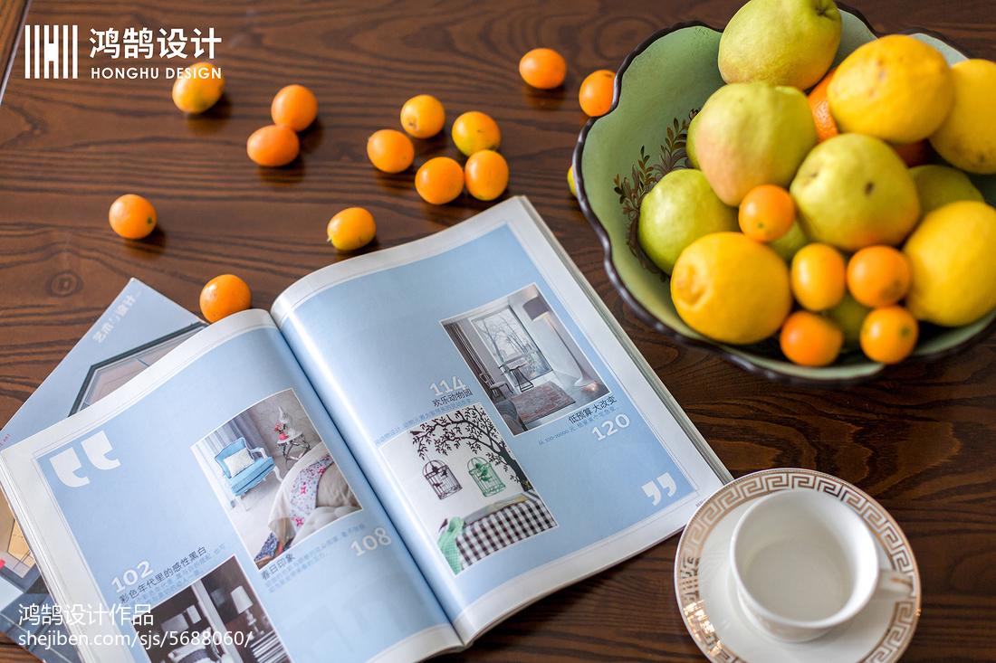 面積102平美式三居客廳裝修設計效果圖片欣賞