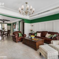 2018精选91平方三居客厅美式效果图片