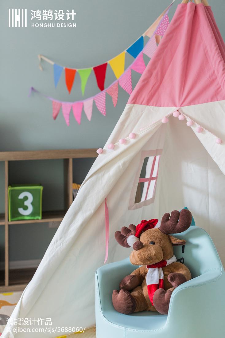 面积104平美式三居儿童房装修图片