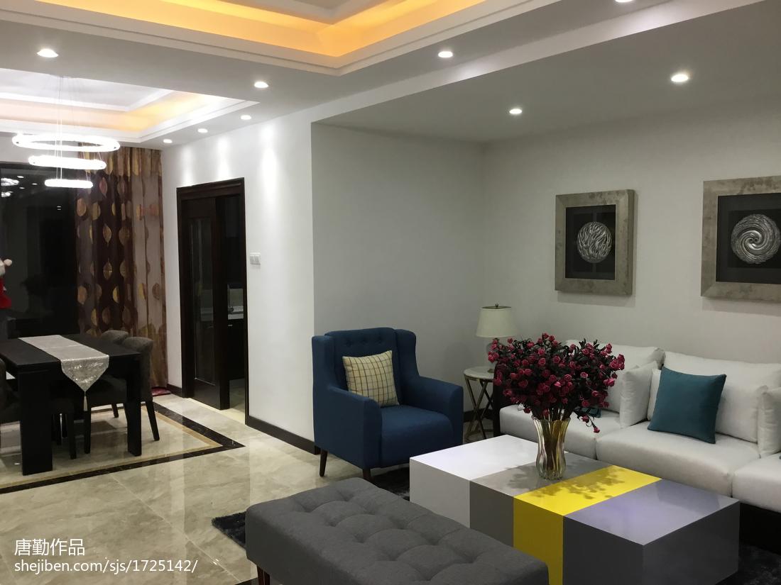 2018客厅简约装修设计效果图片