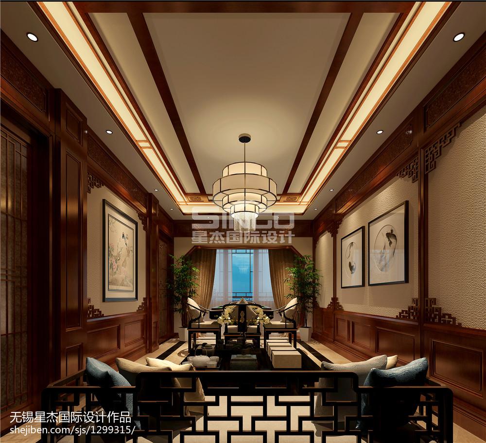 热门123平米中式别墅休闲区装饰图片