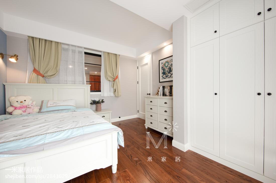 优雅91平美式三居儿童房装潢图