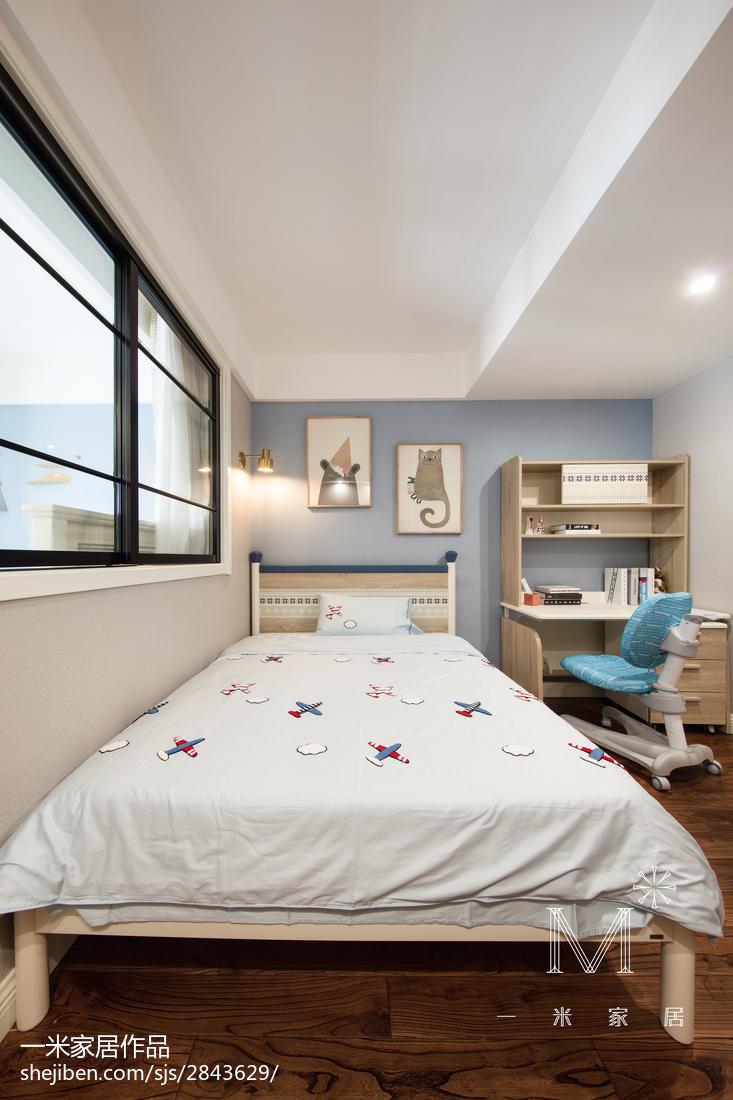 精美99平米三居儿童房美式效果图片欣赏