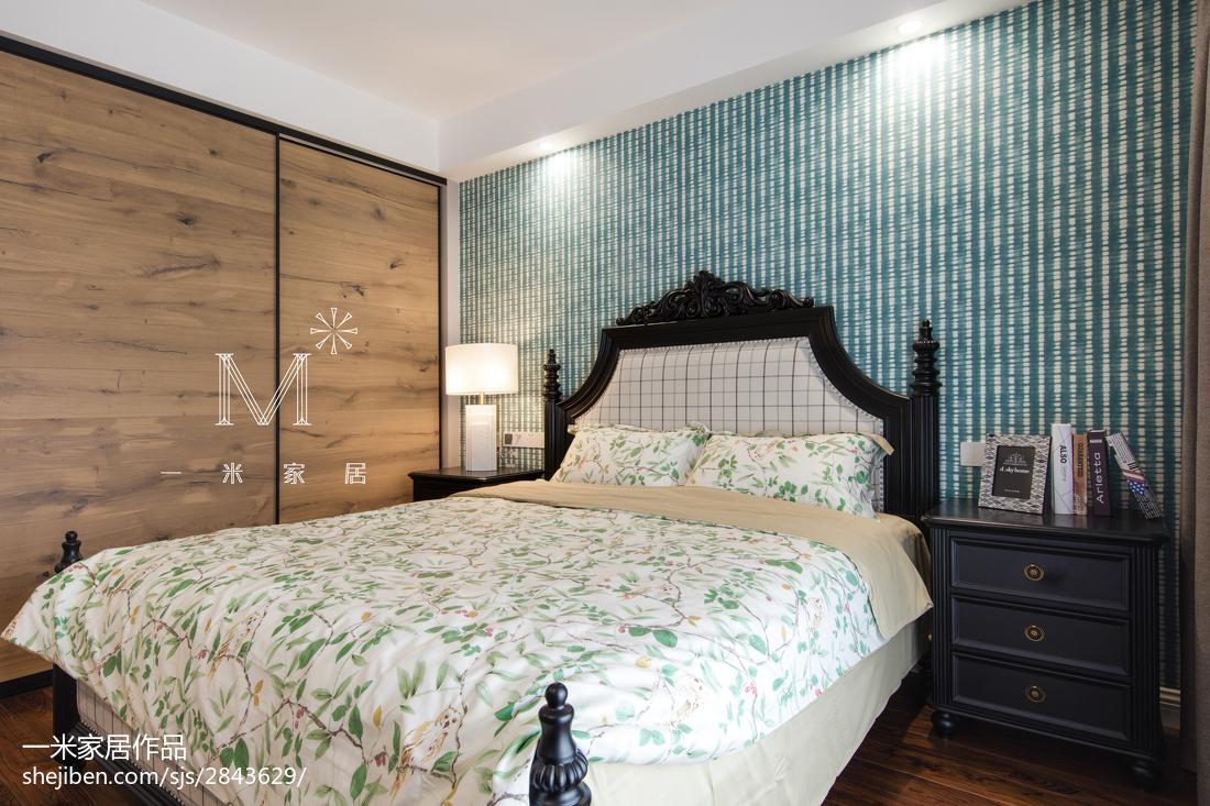 热门面积108平美式三居卧室效果图片