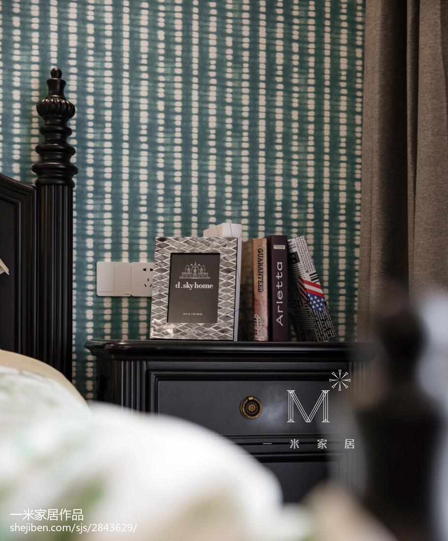 精美97平米三居卧室美式装修欣赏图片