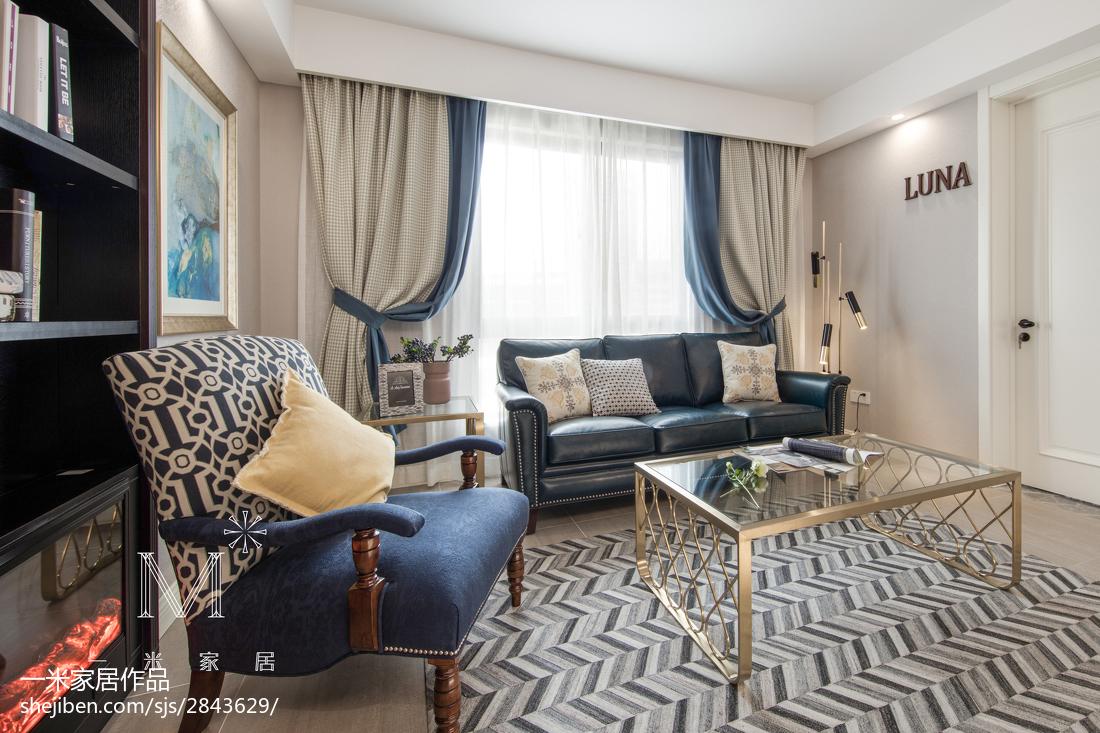 精选101平方三居客厅美式装饰图片