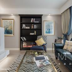 质朴108平美式三居客厅设计案例