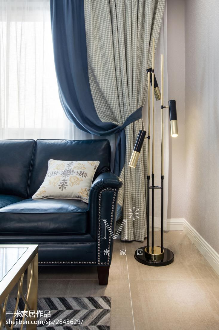 轻奢113平美式三居客厅设计案例
