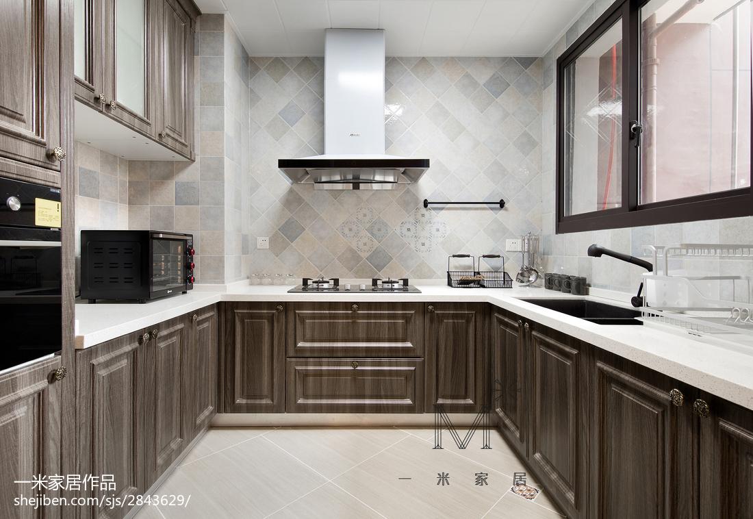 201997平美式三居厨房案例图