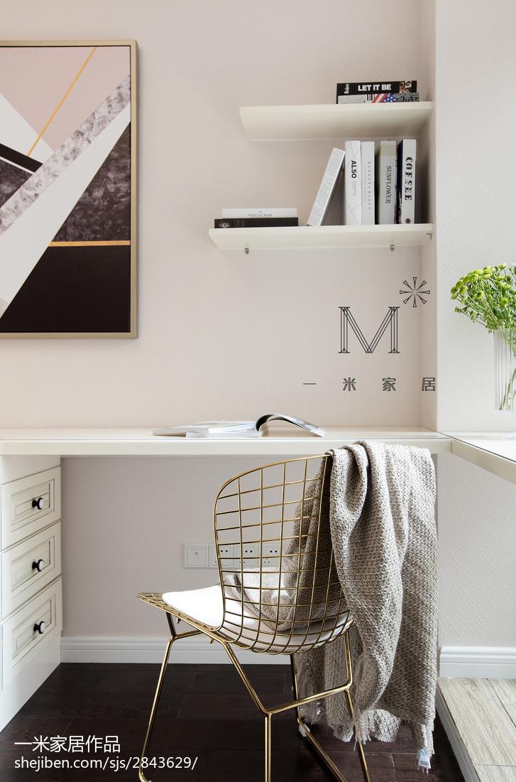 面积96平美式三居卧室装修设计效果图