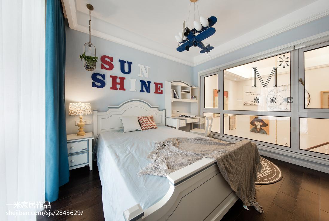 精选101平米三居儿童房美式装修设计效果图片