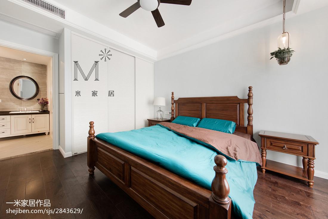 精美大小106平美式三居卧室效果图片