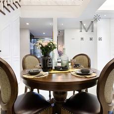 2018精选大小106平美式三居餐厅装修图