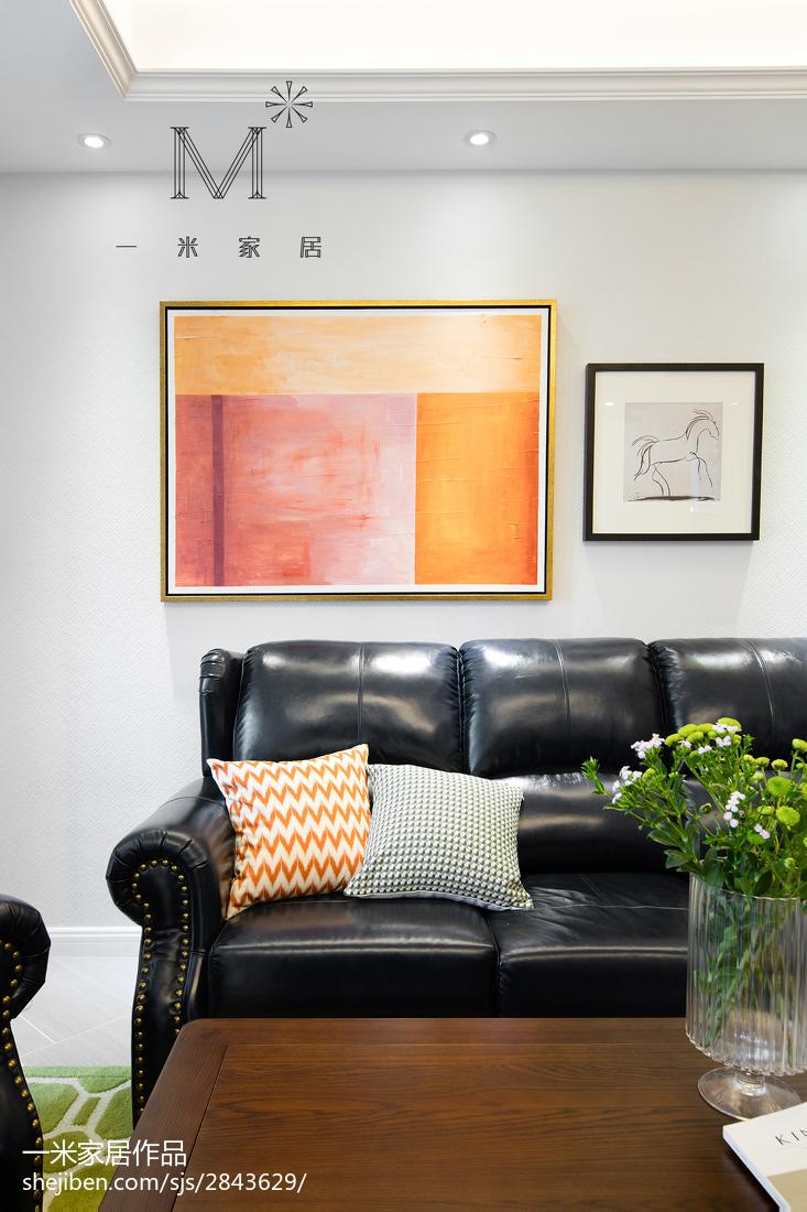 精美98平米三居客厅美式装修效果图片