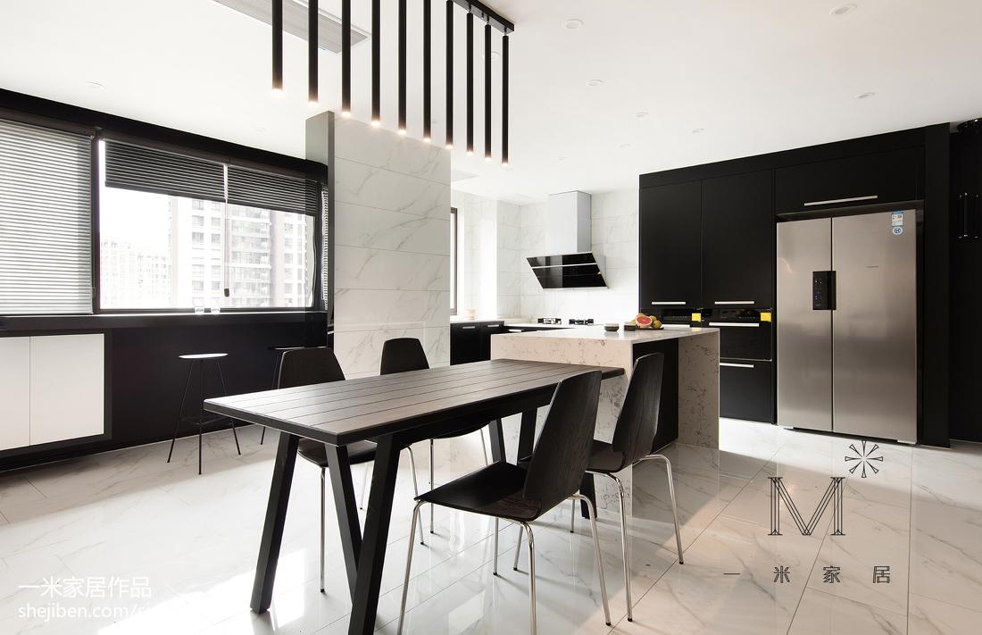 温馨99平简约三居餐厅设计案例