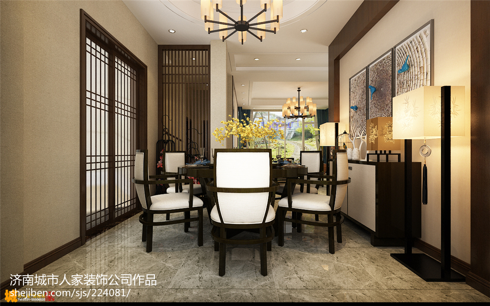 地中海风格两室一厅家庭公寓装修设计