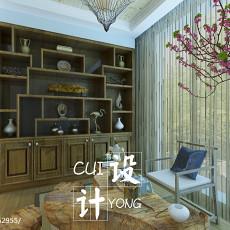 中式风格装修书房效果图