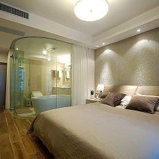现代中式卧室装修效果图大全图