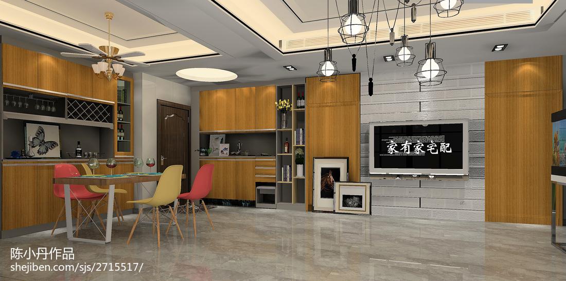 120平米三室两厅时尚客厅装修效果图大全2014图片