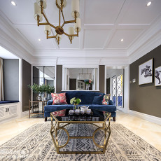 优美110平美式三居客厅设计案例