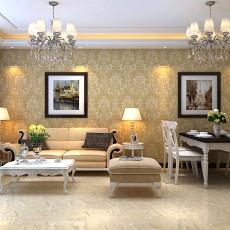 简约风格沙发背景墙挂画图片