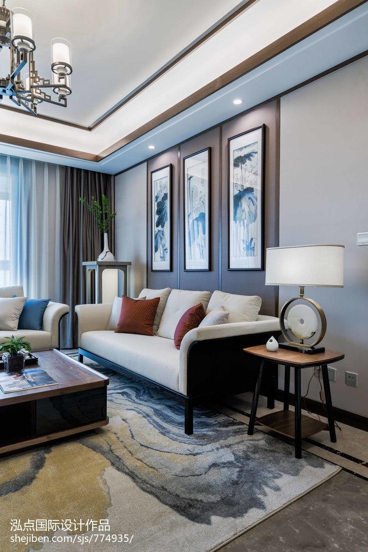 201898平米三居客厅中式装修设计效果图片