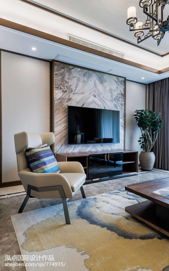 热门面积97平中式三居客厅装修欣赏图片