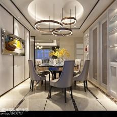 精美72平米欧式小户型餐厅装饰图片欣赏