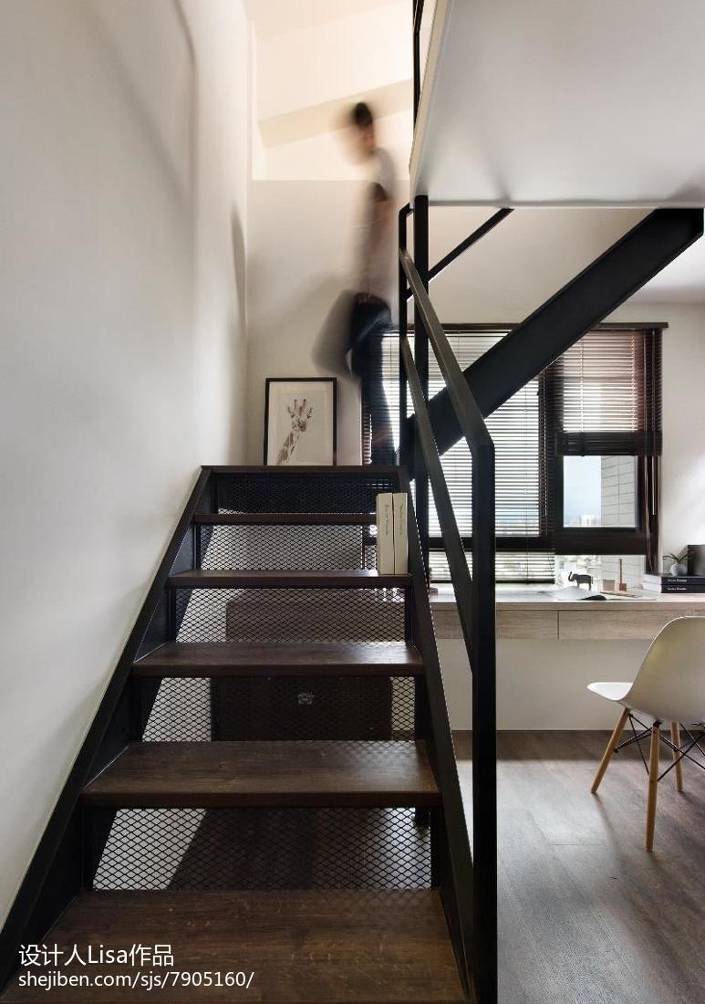 簡單現代復式樓梯設計圖