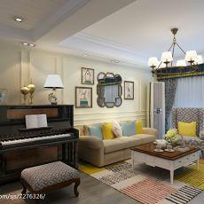 精选田园二居客厅装修设计效果图片大全